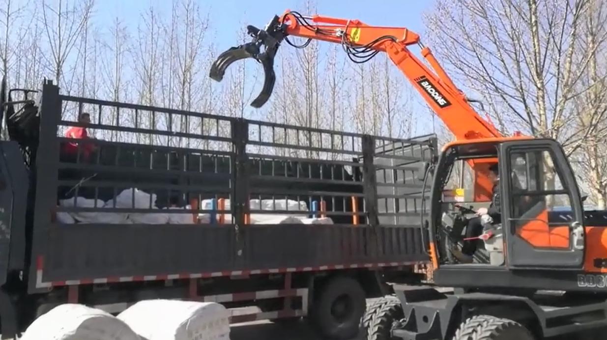 宝鼎机械抓木机工况展示