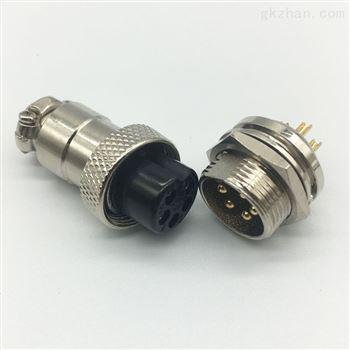 重强maojwei插头安防监控线4芯连接器