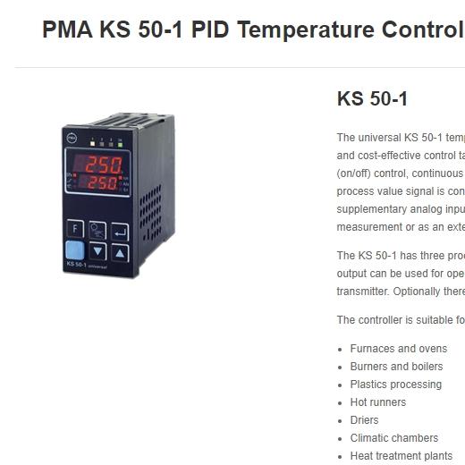 德国PMA ks50系列安全温度控制器
