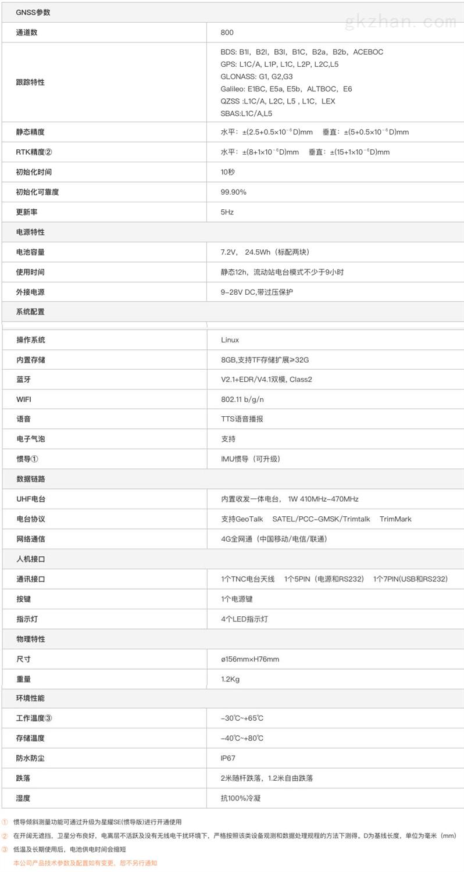 千寻星耀SE网络RTK接收机技术参数