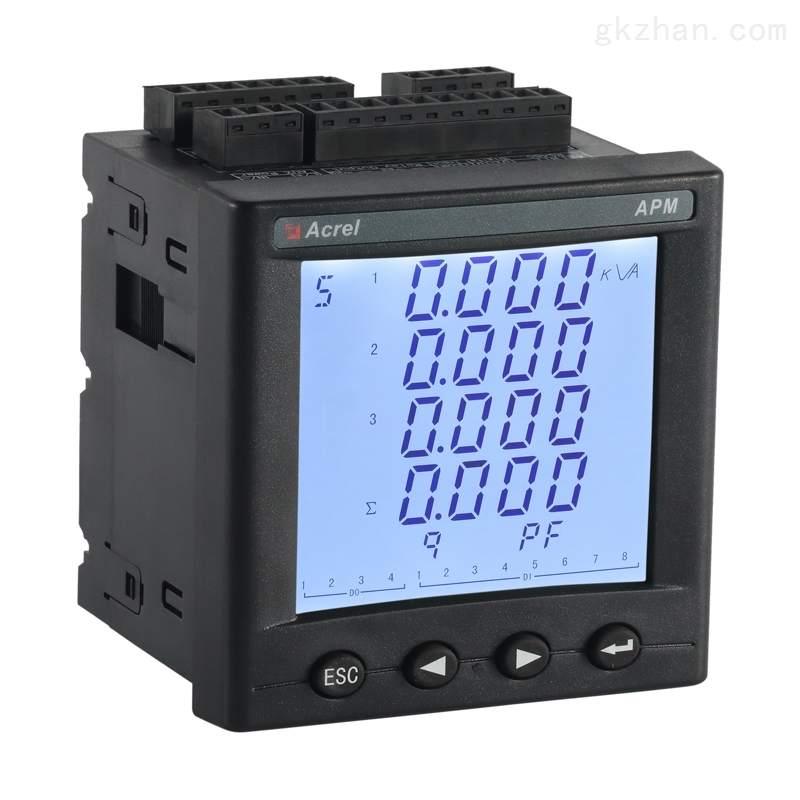 安科瑞三相精度0.2s网络电力仪表面板式安装