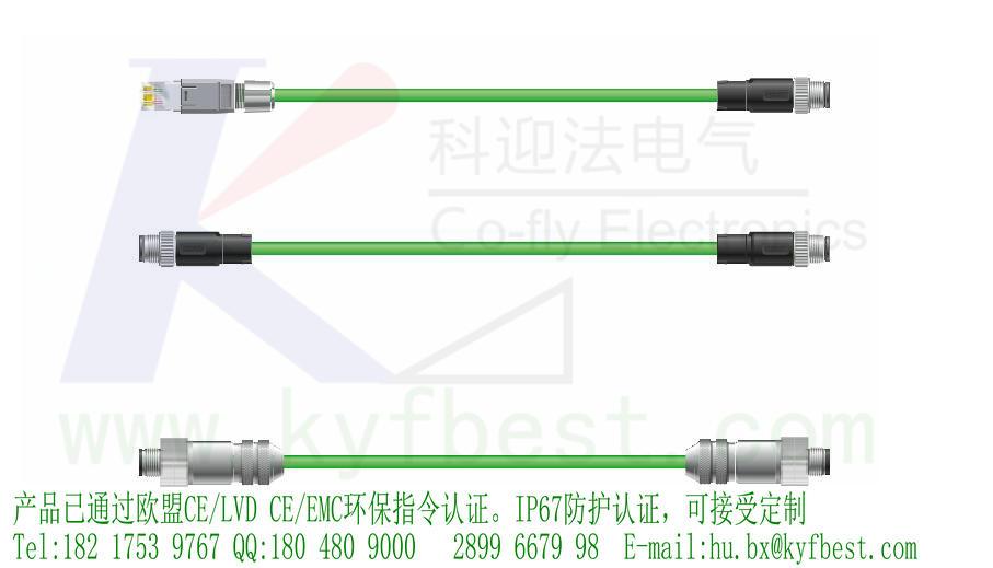 ProfiNET总线插头和插座组成了高引脚密度的 M12产品,适用于严苛的商用和工业环境。