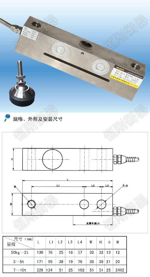 1吨地磅传感器
