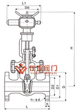 Z941电动闸阀尺寸图