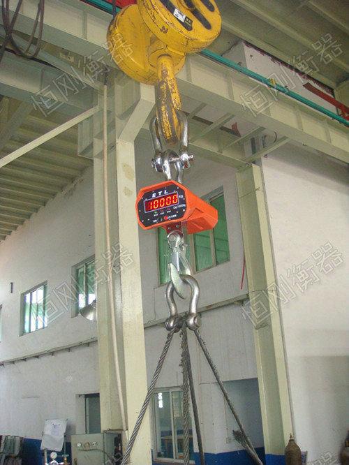 把钢材吊起来称的电子秤